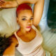 Londie London debuts red haircut