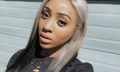 Nadia Nakai pairs sunset eyeshadow look with mauve lipstick
