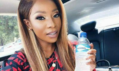 Pearl Modiadie shares two beauty tips in promotional post for Bonaqua
