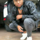 Siphiwe Tshabalala wears all-black outfit with white sneakers