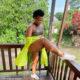 Zodwa Wabantu wears neon green anorak to recent appearance