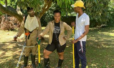 Zodwa Wabantu shares visuals of her hands-on involvement in boyfriend, Vusi Ngubane's gardening business