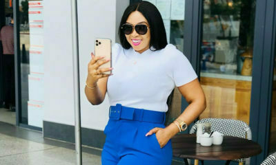 Ayanda Ncwane celebrates one million Instagram followers in pink and white outfit