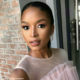 Ayanda Thabethe attends E! Entertainment Africa event in pink tulle dress