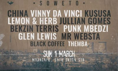 Black Coffee reveals line-up for Soweto edition of Deep In The City