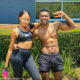 Blue Mbombo s trainer shares visuals of her extensive workout routine