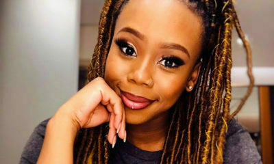 Bontle Modiselle showcases statement burgundy lipstick