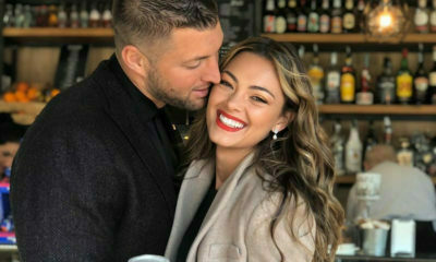Demi-Leigh Tebow wears soft glam makeup in Rome, while sightseeing with husband, Tim Tebow