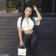 Faith Nketsi pairs monochrome outfit with Fendi handbag