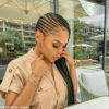 Kefilwe Mabote debuts cornrows from Lucy's Beauty Salon