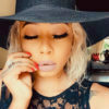Kelly Khumalo pairs soft glam makeup look with blonde hairdo