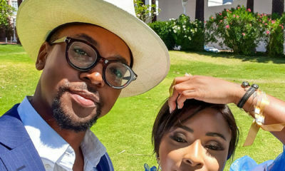 Boity reignites dating rumours after sharing images with Maps Maponyane from surprise thirtieth birthday celebration