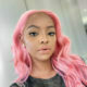 Mihlali Ndamase debuts long, pink wig from Owi Style