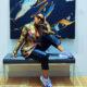 Nomzamo Mbatha showcases latest Puma sneakers in purple and white