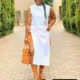 Shauwn Mkhize showcases orange and white outfit