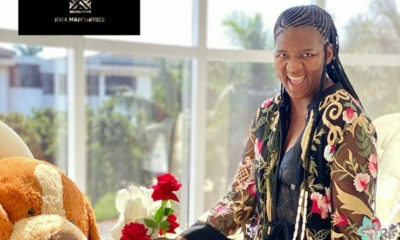 Shauwn Mkhize showcases black and floral lingerie