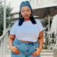 Thickleeyonce showcases classic denim and white trend