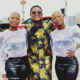 Qwabe twins pose in black and white outfits alongside Tipcee