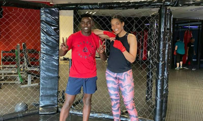 Connie Ferguson shares video of boxing session with boxing champion, Xolisani Ndongeni