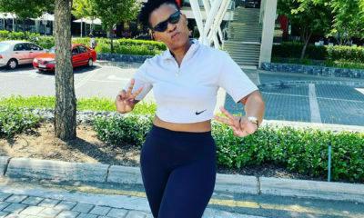 Zodwa Wabantu showcases athleisure outfit while in Pretoria