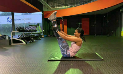 Connie Ferguson shares video of resistance training routine