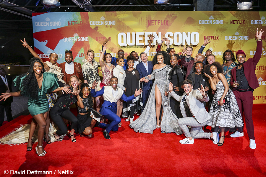 Local stars attend Queen Sono premiere in Joburg