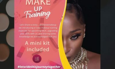 Celebrity makeup artist, Simphiwe Celeste of Celeste Beauty announces training classes