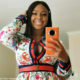 Boity Thulo pairs floral dress with Louis Vuitton belt