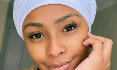 Boity Thulo wears white headscarf in bare-faced selfie