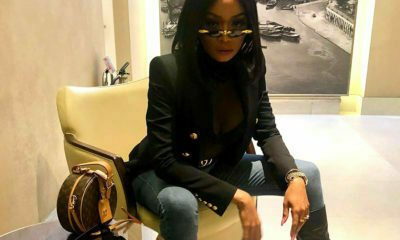 Bonang Matheba showcases Gucci and Louis Vuitton ensemble