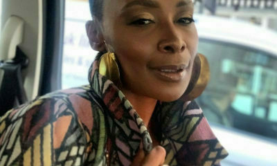 Bonnie Mbuli wears makeup look by Ebony Gold Makeup to London premiere of Noughts and Crosses