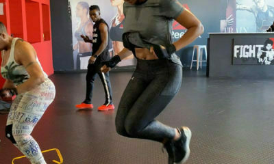 Connie Ferguson shares speed and agility workout video, incorporating ab exercises