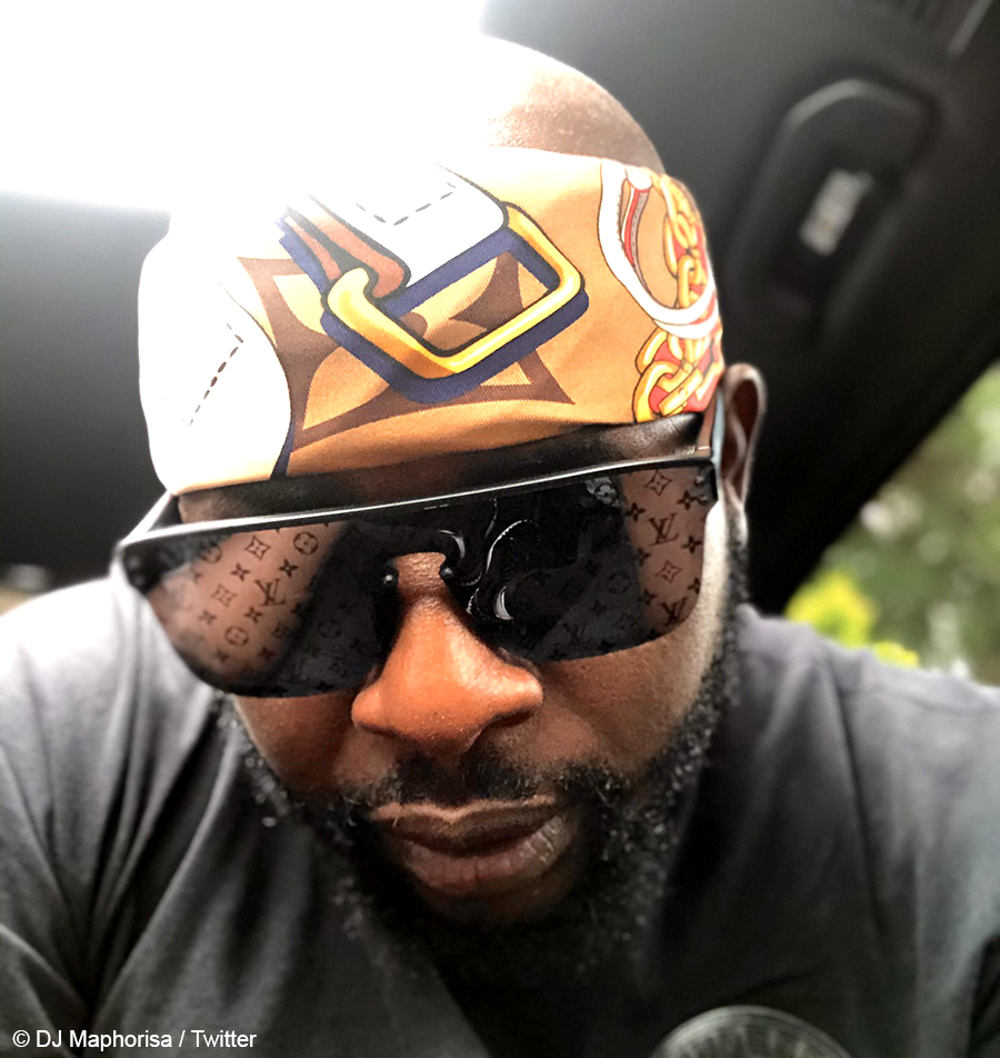 Fans ask DJ Maphorisa to support local fashion brands after showcasing Louis Vuitton headscarves