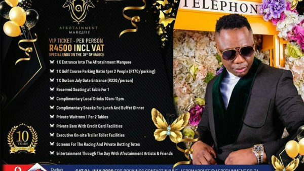 DJ Tira's Afrotainment announces lounge ticket packages for Durban July marquee