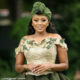 Lerato Kganyago wears green ensemble by Gert-Johan Coetzee for traditional wedding celebrations