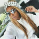 Pearl Modiadie wears blonde wig and polka dot headscarf in latest Instagram post