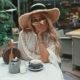 Sarah Langa Mackay poses in blonde wig from Ney Hair
