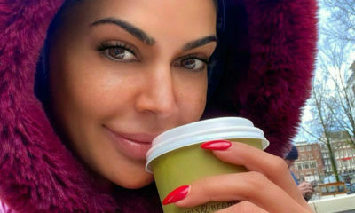 Shashi Naidoo flaunts Tammy Taylor manicure whilst braving the cold in London