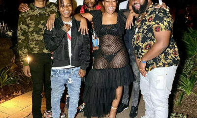 Zodwa Wabantu wears sheer, black dress to Whitley Neill Gin event