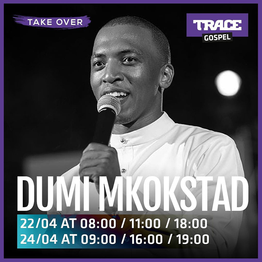 Dumi Mkokstad set to feature as guest artist for Trace Gospel's Takeover