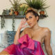 Nadia Jaftha bares cleavage in strapless dress